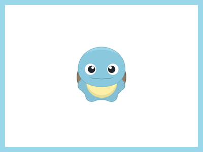 Pokemon Go! kids friendly cute ios sticker flat icon illustration go pokemon squirtle