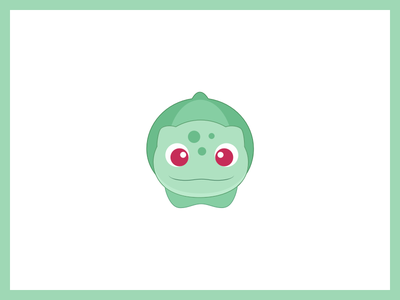 Pokemon Go! bulbasaur cute kids friendly ios flat illustration icon stickers go pokemon
