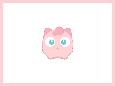 Pokemon Go! jigglypuff cute kids friendly ios flat illustration icon stickers go pokemon