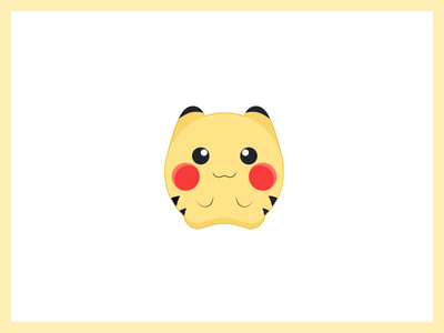 Pokemon Go kids friendly cute ios sticker flat icon illustration go pokemon pikachu