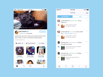 TV App notification video profile activity feed home flat ios app tv