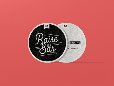 Event Coasters typography print