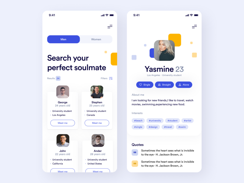 Dating/Meeting App app home user experience interface figma app design ux ui product design design