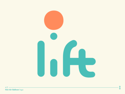 lift - hot air balloon logo