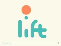 lift - hot air balloon logo