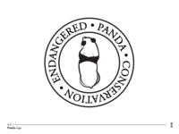 endangered panda conservation - panda logo