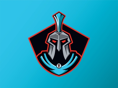 Titans Logo red blue trojans spartans titans vector sports design procreate logo illustration