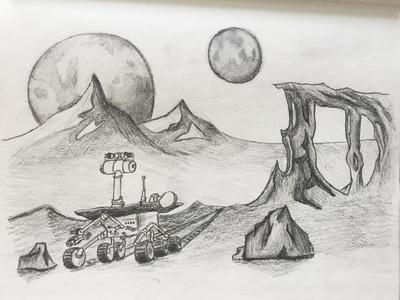 Mars Sketch by Joel Hudson - Dribbble