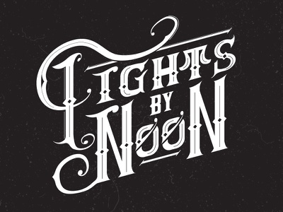 Fights By Noon black and white logo lettering