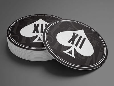 Fights By Noon Coaster 12 ace of spades ace coaster monogram logo