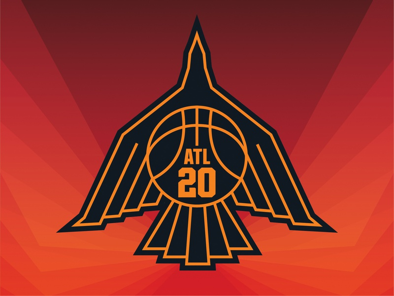 Atlanta Phoenix Mark design illustration basketball sports logo