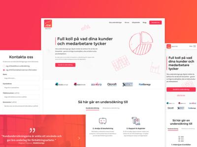 Website re-design web design ux ui