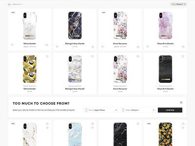 Scroll filter for e-commerce webshop e-commerce