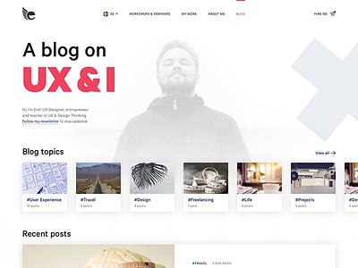 Blog re-design posts topics designer ux freelancer portfolio article blog feed blog
