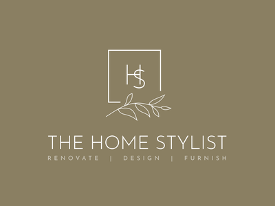 The Home Stylist logo local interior design logo mark wordmark brand design brand identity logo branding