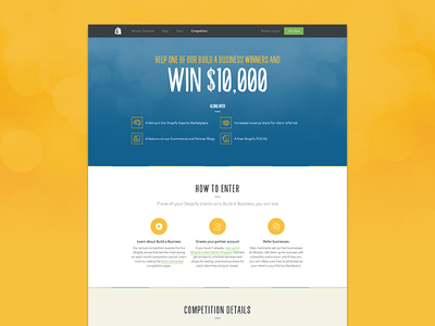 Shopify Partners Competition competition web design shopify build a business screen responsive
