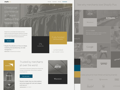 Shopify Plus web web design shopify ecommerce commerce enterprise software typography colours branding