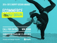 2014-2015 Shopify design awards campaign