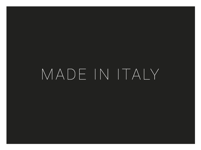 Made In Italy flat simple black and white typography refinement sleek design italy