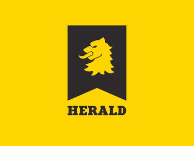 Herald Logo heraldry lion black yellow design logo