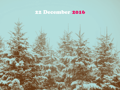 22 December 2016