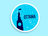 Ottawa sticker ottawa sticker dribbbleweeklywarmup illustration design
