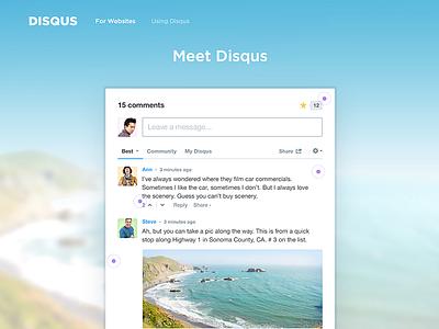 Meet Disqus web disqus ux design ui interactive