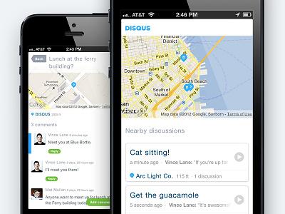 Disqus Local web iphone interface mobile map comments disqus