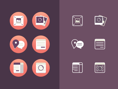 Icons Aesthetics icons responsive flat border gradient app shadow loading picture map form spinner