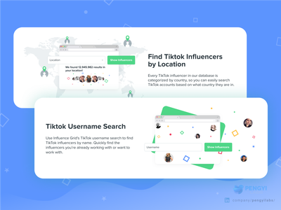 Influence Grid by Kicksta | Discover TikTok influencers Website tiktok tik tok influencers influence social social media social media design social network colorful web design dashboard yellow system design bulma vuejs instagram facebook avatar