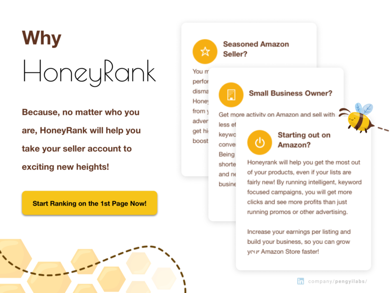 HoneyRank Amazon Keyword Rating Website Design store design shop online store landing page design landing page keyword honey ecommerce business ecommerce shop ecommerce shopping store amazon store amazon sellers amazon