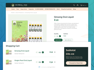 Herbal Inn | Your Alternative Medicine Online Marketplace products landing page web web design responsive sketch figma invision shopify online store ecommerce online shopping online shop shopping tea fitness health physician doctor medicine