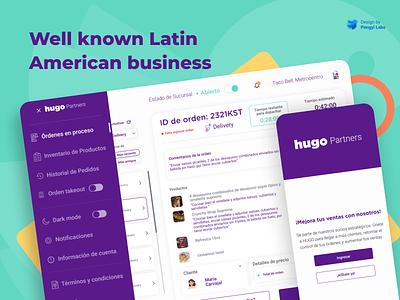 HUGO branding logo illustration ui blue website web landing page design web design