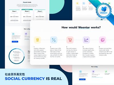 Weentar branding logo illustration ui blue website web landing page design web design