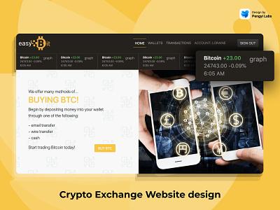 EasyBit branding logo illustration ui blue website web landing page design web design