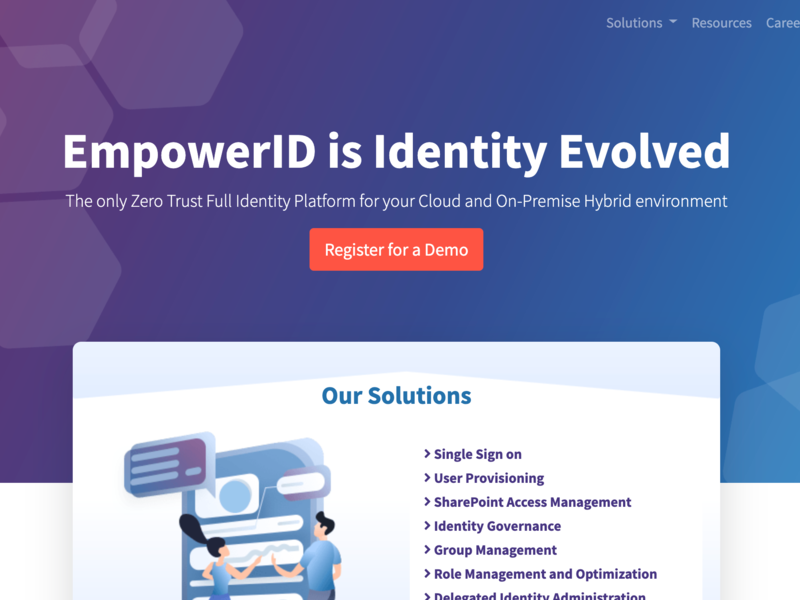 EmpowerID Web Redesign and Development visual identity web design website web purple blue id passport profile digital identity digital id