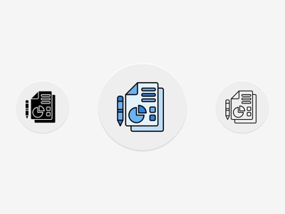Document Business Icons
