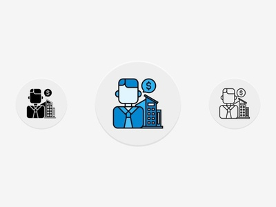 Real Estate Agent Icons Set