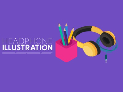 headphone illustration headphone illustration design design illustrator illustration