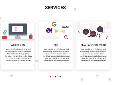 Service Page Shot design simple ui uidesign webdesign website onepage adobe xd