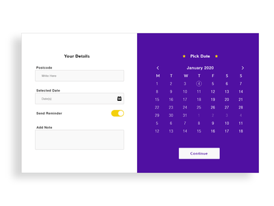 Appointment booking adobexd design simple onepage adobe xd website