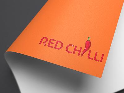 RED CHILLI design minimalist simple adobe ilustrator logo design logo