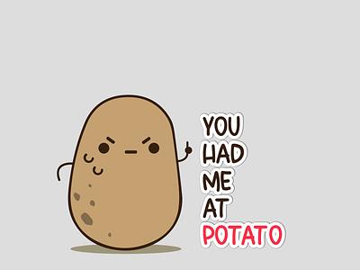 POTATO  DESIGN FOR T SHIRT milimalist simple potato illustrator illustration tshirt