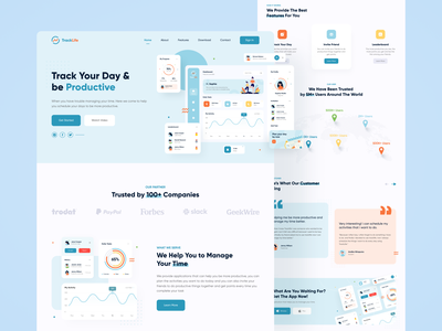 Activity Tracker Landing Page homepage productive app tracking healthcare fitness app gym app health app dashboard web design landing page uiux sport training activity tracker activity feed tracking app running app workout tracker workout app planning app