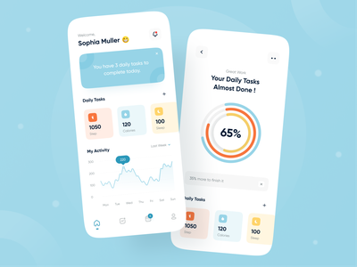 Activity Tracker App stats dailytask sleep app training app activity goal task list task management running app sport activity tracker app workout app tracking app health app activity feed activity tracker activity app design ui uiux