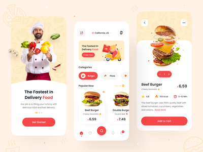 Food Delivery App 🍔 food order recipe app restaurant app pizza burger app tracking app food design delivery app chef app mobile app uiux eating eat food delivery application food delivery service food delivery app food delivery food and drink food app food