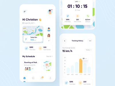 Running App 🏃 activity personal trainer trainer running app workout activity tracker daily task task task management management fitness gym jogging sport health app tracking app activity app training uiux stats