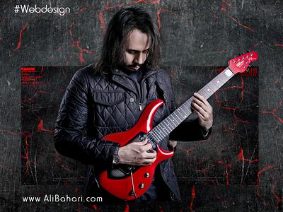 Ali Bahari Official Website musician alibahari personalwebsite website uiuxdesigner uidesign graphic design webdesign