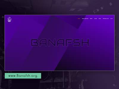 Banafsh Official Website (1) musician music uiux design personal website art website ali jadidi ui webdesign