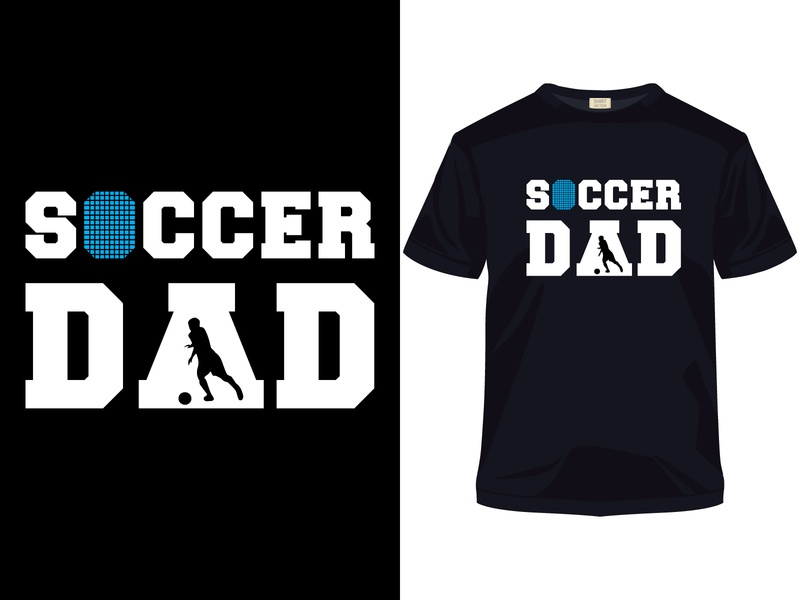 Soccer Dad father's day t-shirt design